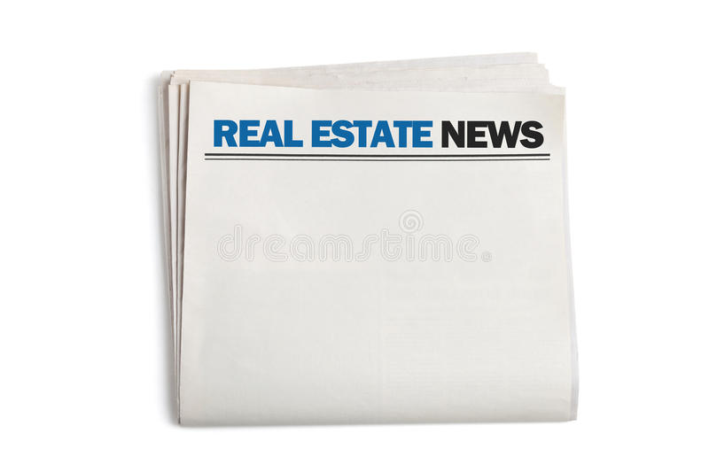 Real Estate News royalty free stock photography