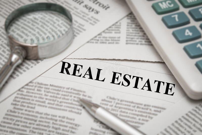 Real Estate-Nieuws royalty-vrije stock afbeeldingen
