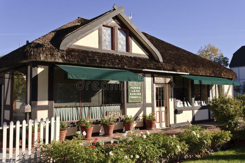 Real Estate Office, Solvang, California royalty free stock photos