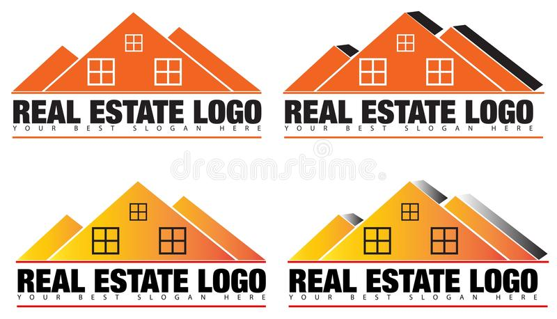 Real Estate ou agent immobilier Logo Vector illustration stock