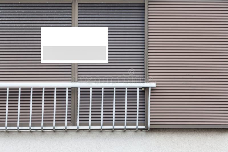 Real Estate Podpisuje przed domem obrazy royalty free