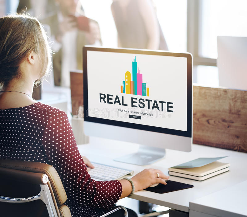 Real Estate Property working concept. Real Estate Building Property working royalty free stock photography