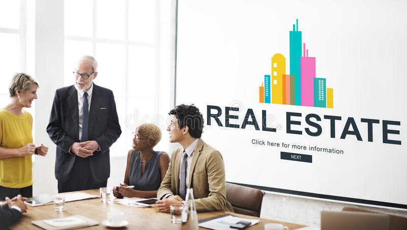 Real Estate Property working concept. Real estate property team is discussing royalty free stock images