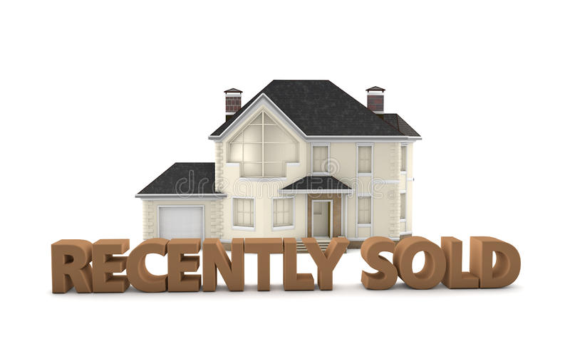 Real Estate Recently Sold stock illustration