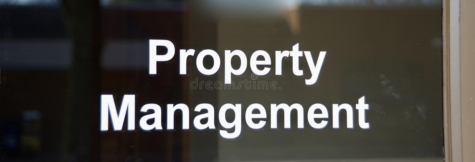 Real Estate and Retail Property Management Office royalty free stock images