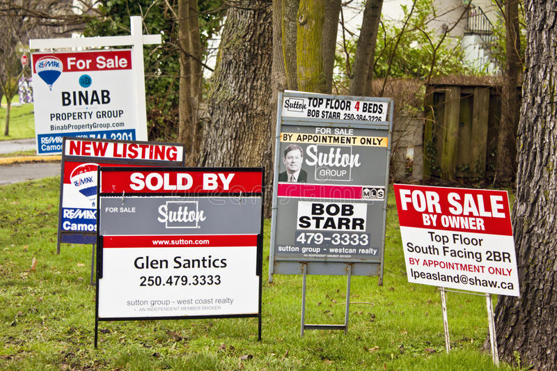 Real Estate For Sale Signs royalty free stock photo