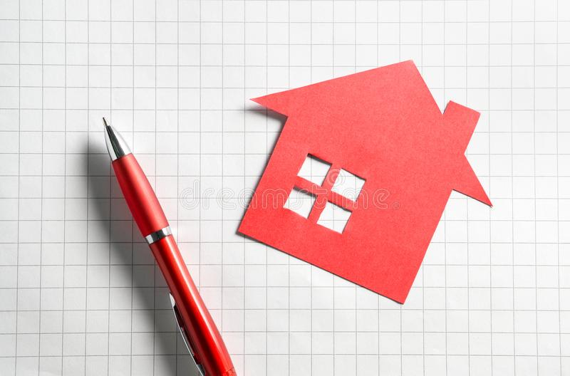 Real estate and selling or buying homes concept. royalty free stock images