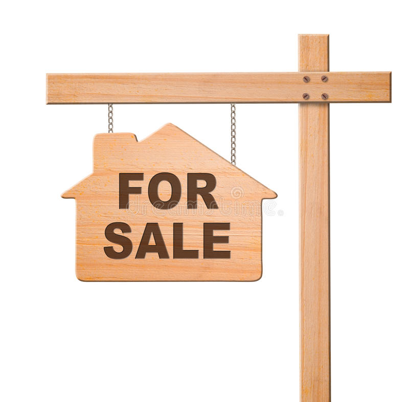 Free Real Estate Sign Isolated. Royalty Free Stock Photos - 24504248