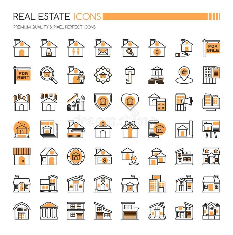 Real Estate symboler stock illustrationer