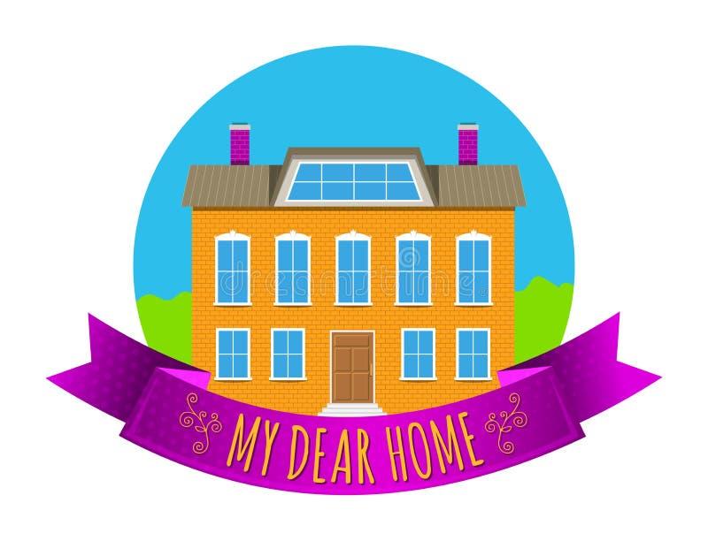 Real Estate symbolisent illustration libre de droits