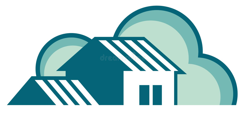 Real estate symbols stock illustration