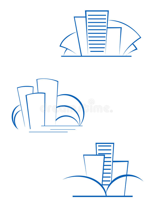 Real estate symbols royalty free stock photo