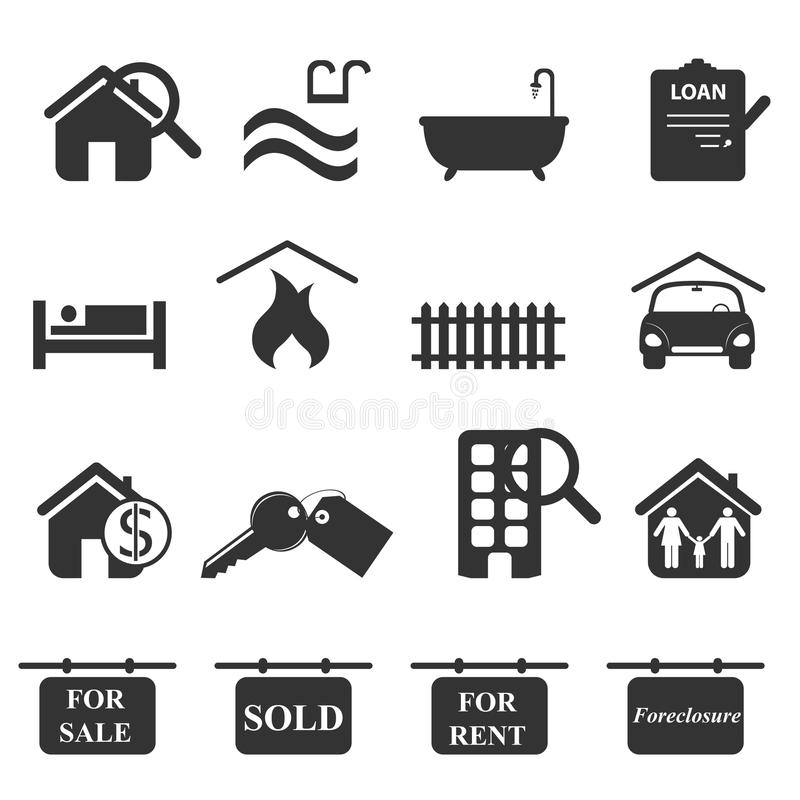 Royalty Free Stock Photos Real Estate Symbols Image18568418 on 7 to 8 bedroom plans