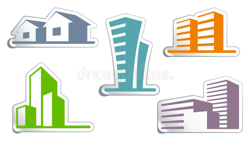 Real Estate Symbols Stock Vector Illustration Of Abstract 19510837