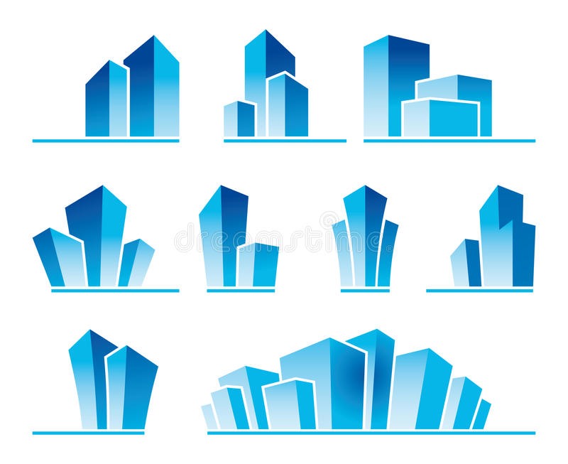 Download Real estate symbols stock vector. Illustration of district - 23394628