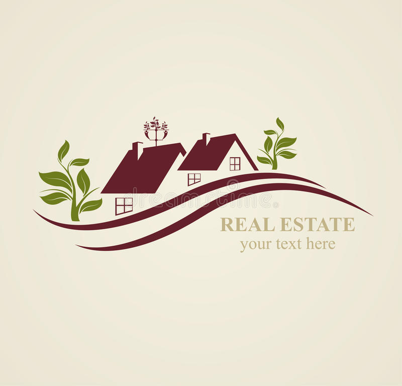 Real Estate Symbols for Business Purposes. royalty free illustration