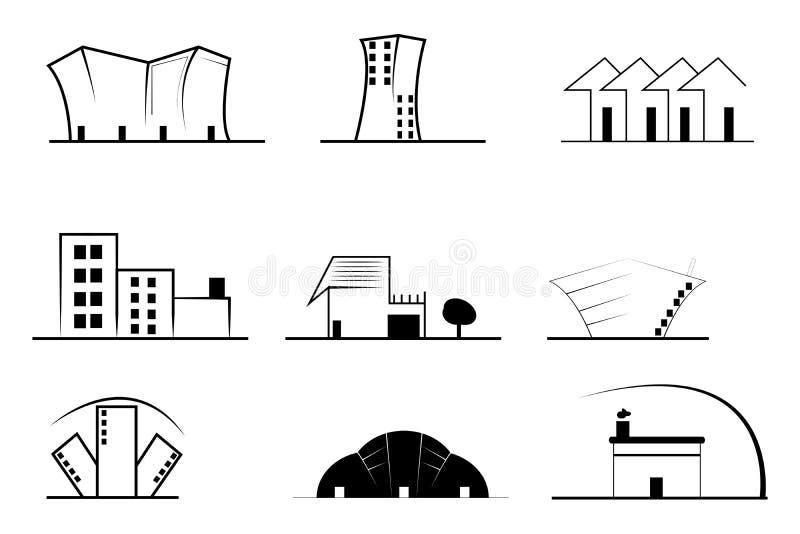 Real Estate Symbols vector illustration
