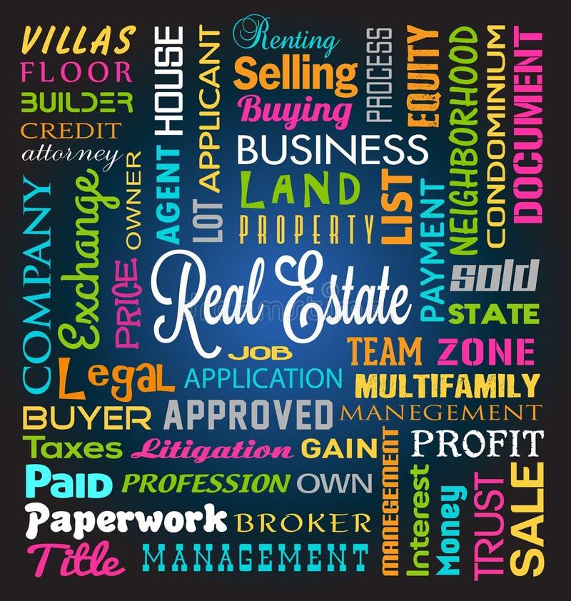 Real Estate tema stock illustrationer
