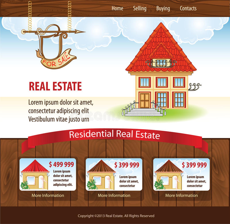 Download Real Estate Template Royalty Free Stock Photos - Image: 33866748