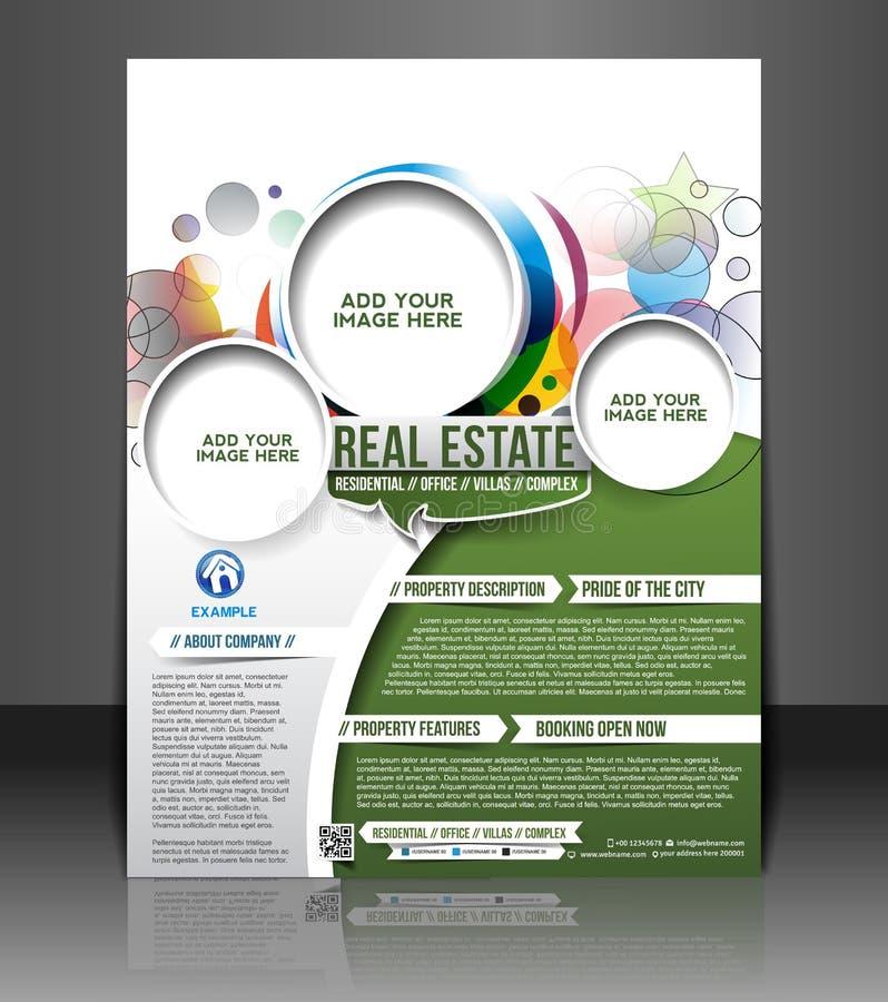 Real Estate ulotki projekt ilustracji