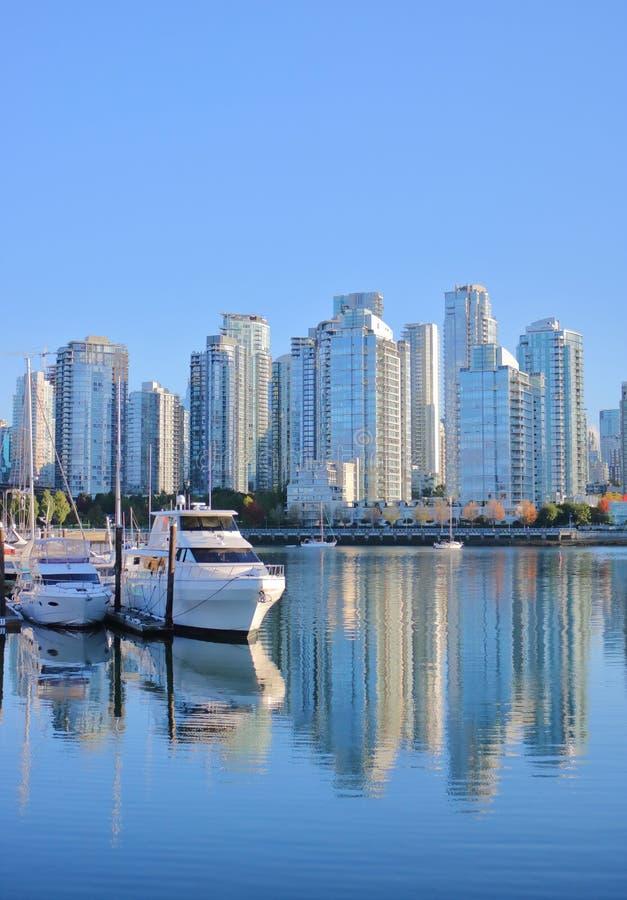 Real Estate in Vancouver Van de binnenstad, Canada stock foto