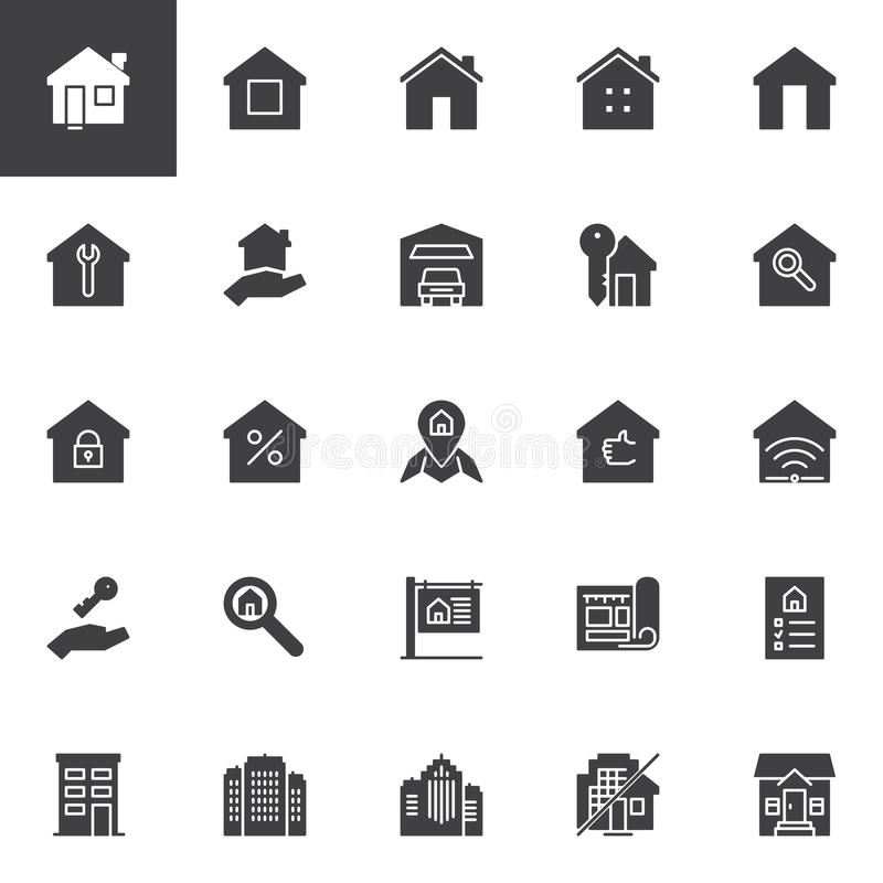 Real estate vector icons set vector illustration