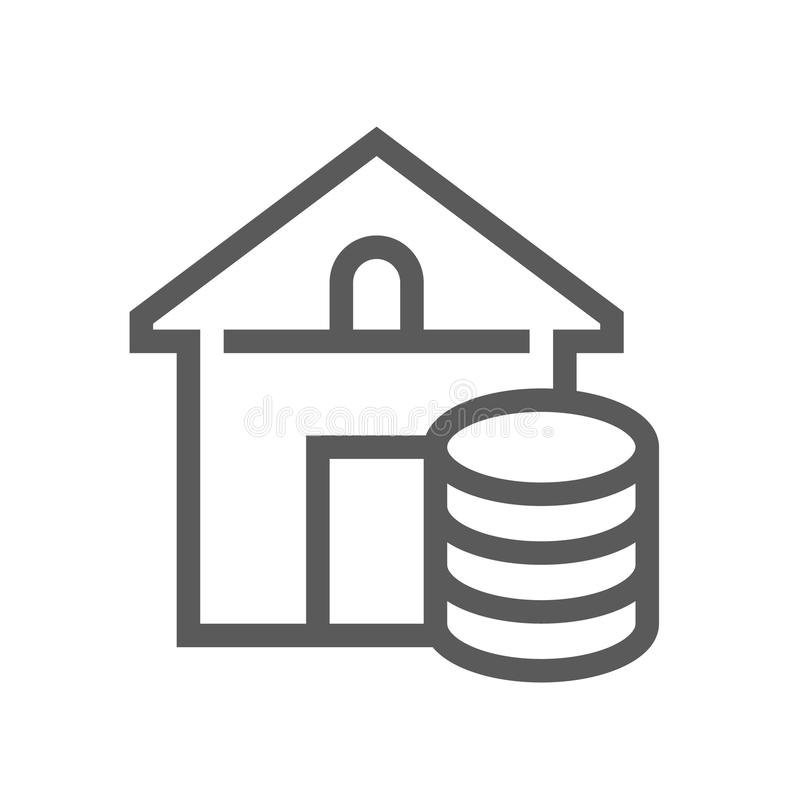 Real Estate Vector Line Icon. Editable Stroke. 48x48 Pixel Perfect. royalty free illustration