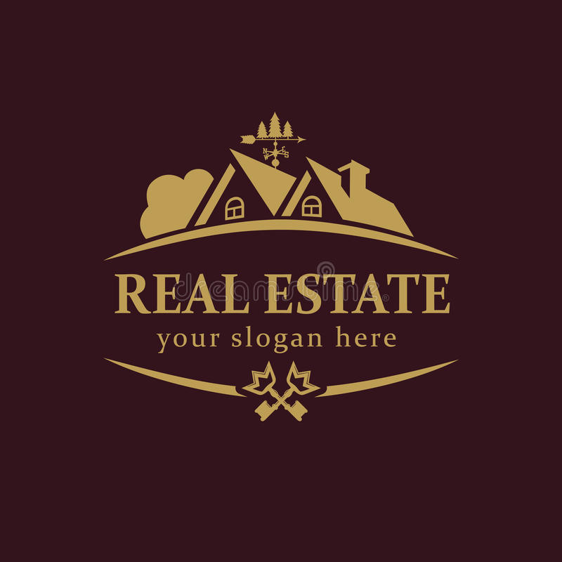 Real-estate vector logo. stock vector. Illustration of comfort ...