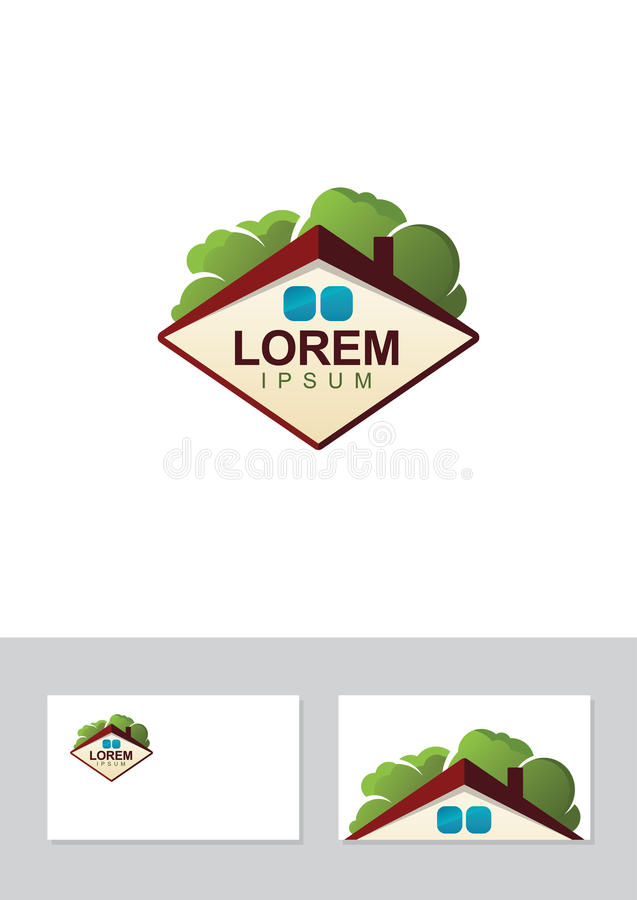 Real estate vector logo roof of house and trees business card download real estate vector logo roof of house and trees business card stock vector reheart Image collections