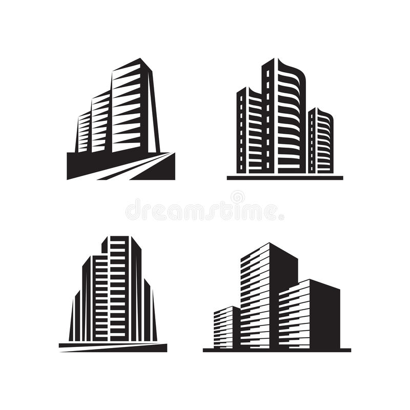 Real estate - vector logo signs concept illustrations vector illustration