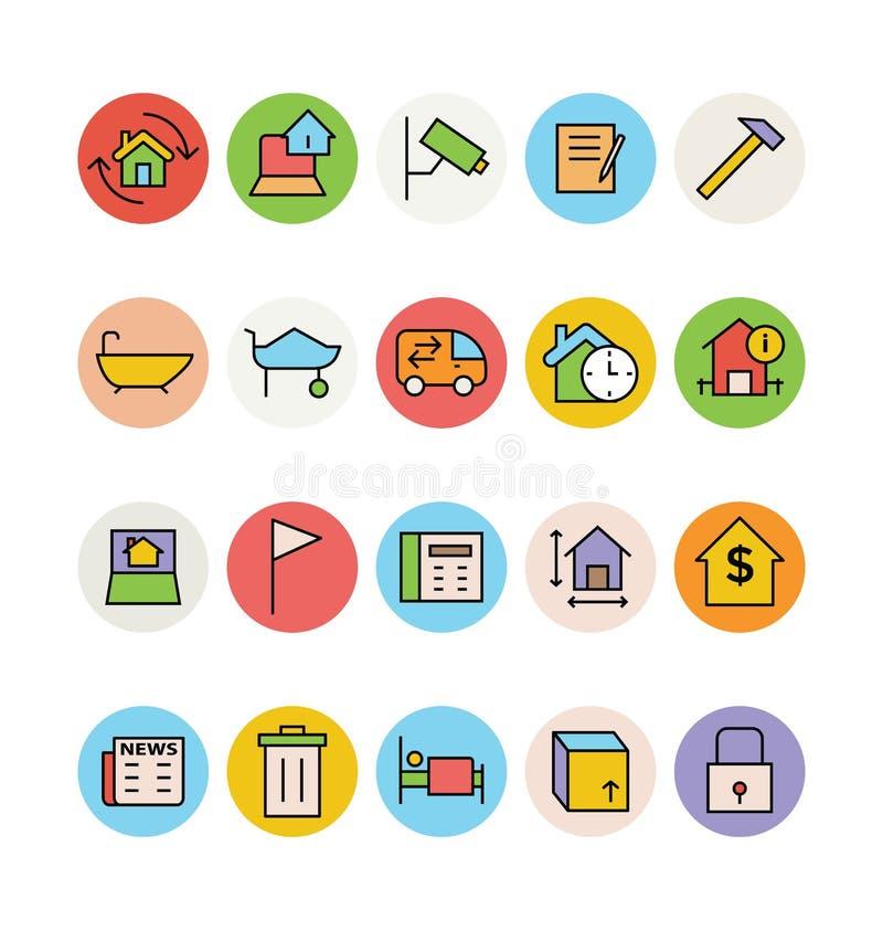 Real Estate Vector los iconos 8 ilustración del vector