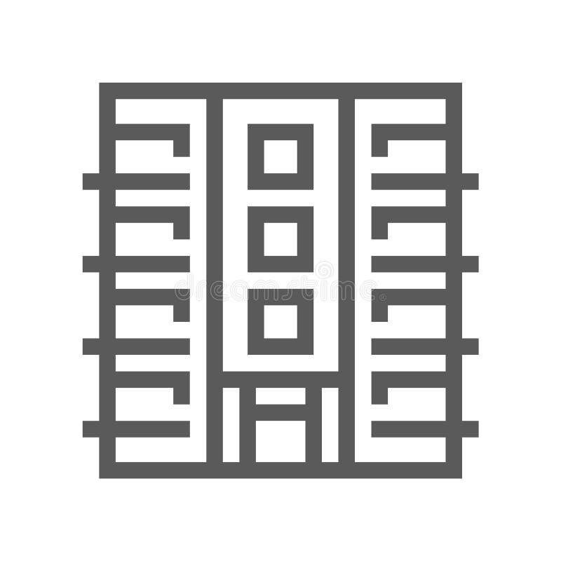 Real Estate vektorlinje symbol Redigerbar slaglängd perfekt PIXEL 48x48 royaltyfri illustrationer