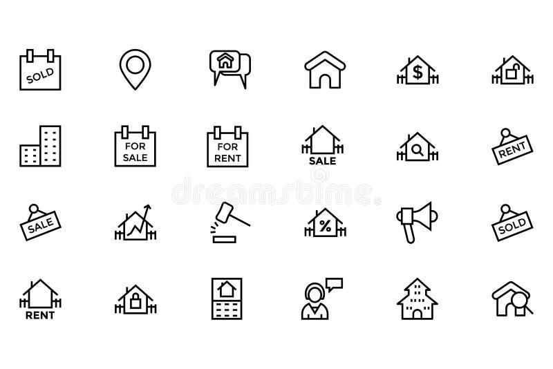 Real Estate vektorsymbol 4 royaltyfri illustrationer