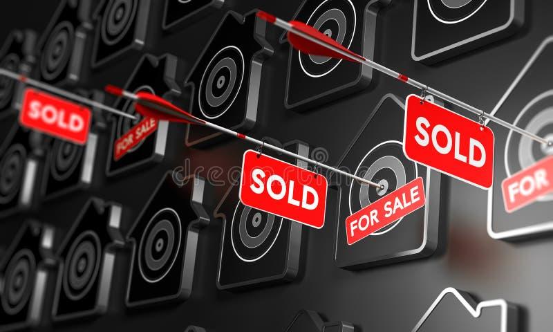 Real Estate vendió concepto de la muestra ilustración del vector
