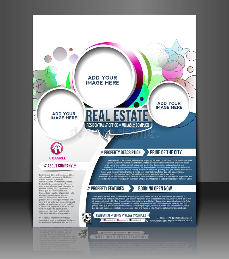 Real Estate-Vliegerontwerp royalty-vrije illustratie