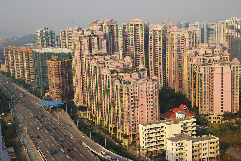 Real-estate vom Porzellan stockfotografie
