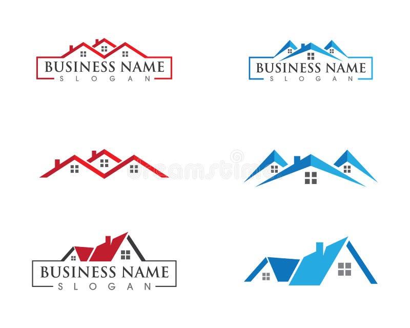 Real Estate, własności i budowy loga projekt,