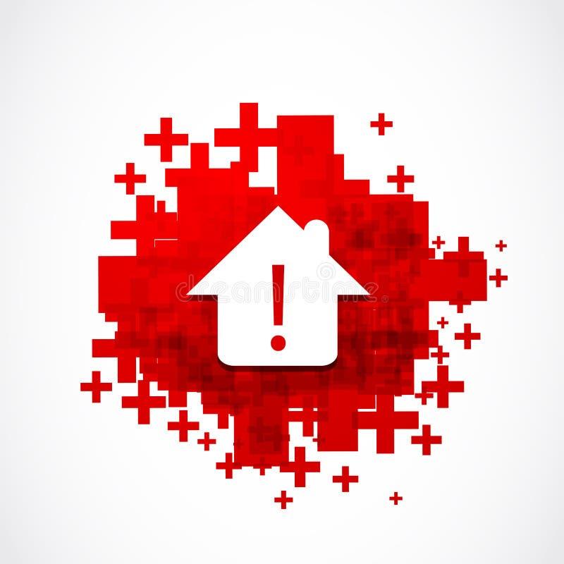Real estate warning danger concept stock illustration
