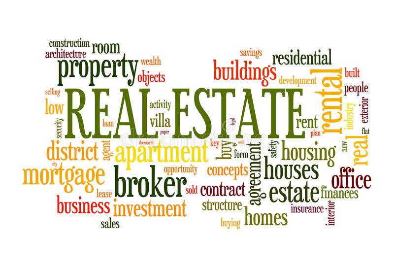 Real estate word cloud royalty free illustration