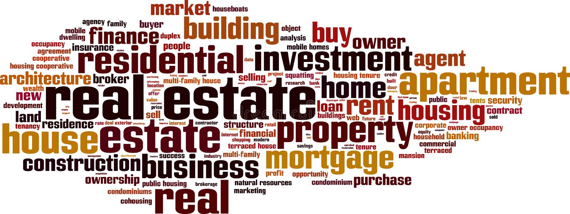 Real estate word cloud vector illustration