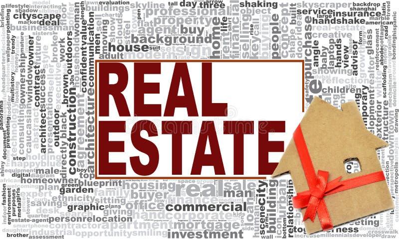 Real estate word cloud stock illustration