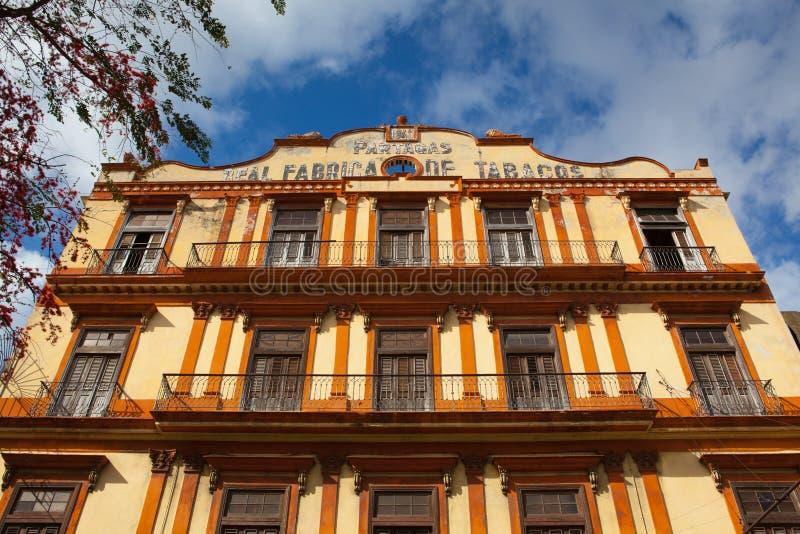 Real Fabrica de Tabacos Partagas είναι ένα εργοστάσιο πούρων σε Hava στοκ εικόνες με δικαίωμα ελεύθερης χρήσης