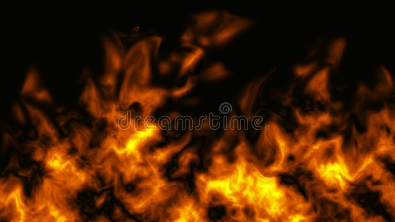 Real Fire Texture Bright Patttern royalty free illustration