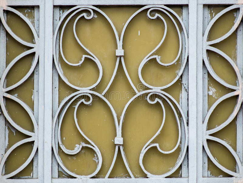 The real flowers iron gates on stree royalty free stock photos
