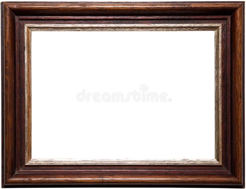 Real frame photography with png format. A beautiful and antique wooden frame. You can also download in PNG format royalty free stock photography