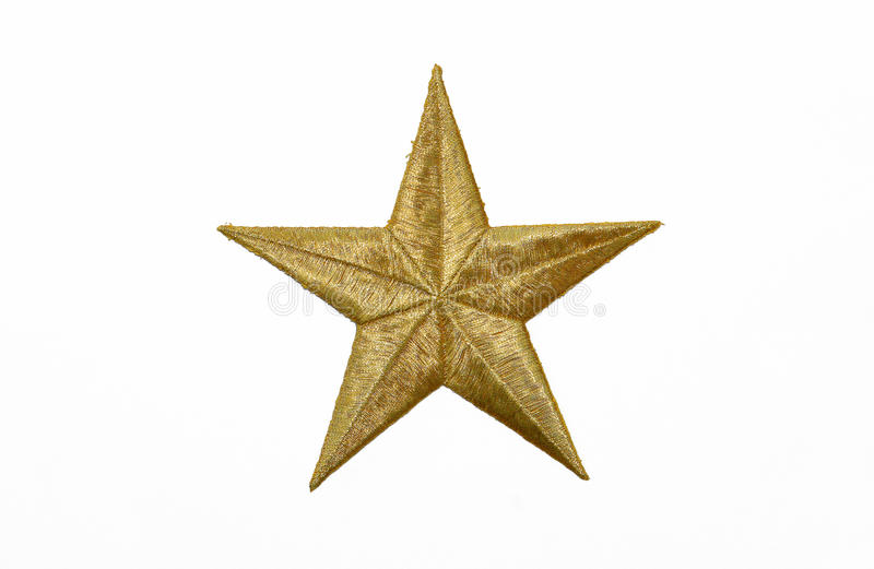 Real Gold Yellow Star Royalty Free Stock Image