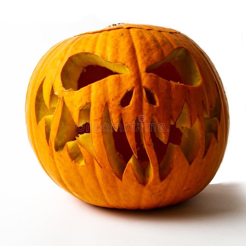 Real jack o lantern for halloween stock photos