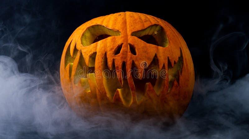Real jack o lantern for halloween royalty free stock photo