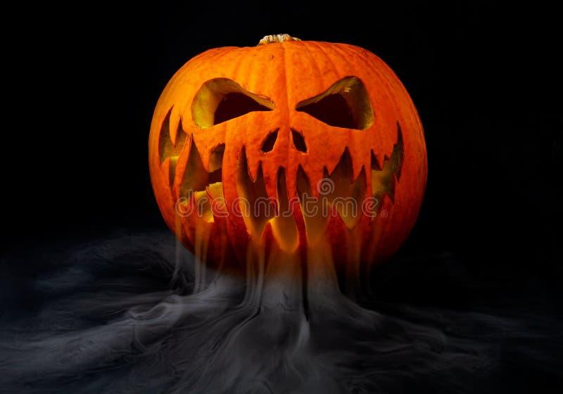 Real jack o lantern for halloween. Homemade stock images