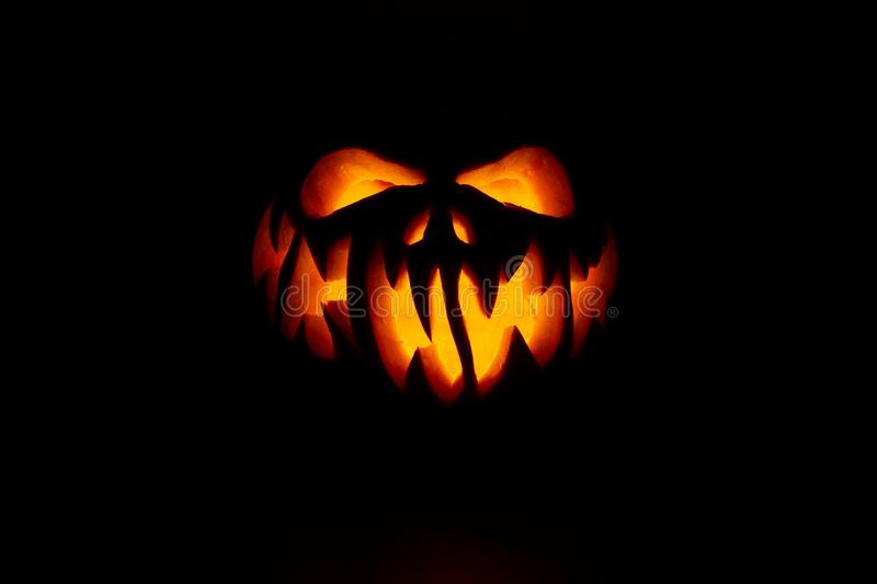Real jack o lantern for halloween royalty free stock images